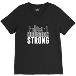 houston strong texas city skyline V-Neck Tee | Artistshot