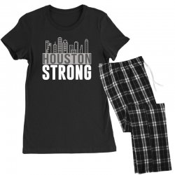 houston strong texas city skyline Women's Pajamas Set | Artistshot
