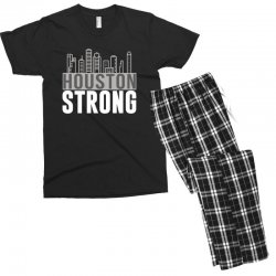 houston strong texas city skyline Men's T-shirt Pajama Set | Artistshot