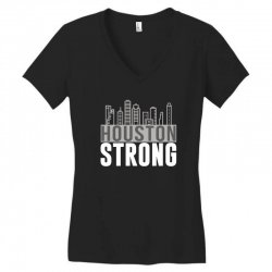 houston strong texas city skyline Women's V-Neck T-Shirt | Artistshot