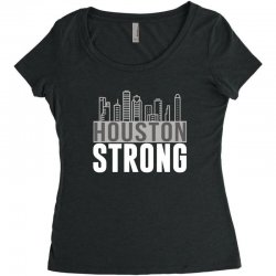 houston strong texas city skyline Women's Triblend Scoop T-shirt | Artistshot