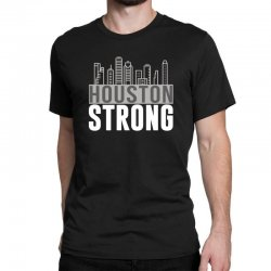 houston strong texas city skyline Classic T-shirt | Artistshot