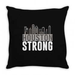 houston strong texas city skyline Throw Pillow | Artistshot