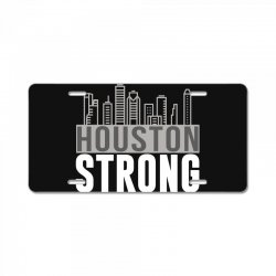 houston strong texas city skyline License Plate | Artistshot