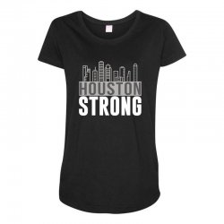 houston strong texas city skyline Maternity Scoop Neck T-shirt | Artistshot
