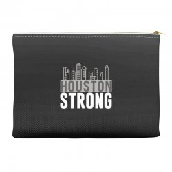houston strong texas city skyline Accessory Pouches | Artistshot