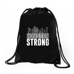 houston strong texas city skyline Drawstring Bags | Artistshot