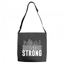 houston strong texas city skyline Adjustable Strap Totes | Artistshot