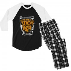 how do you whiskey Men's 3/4 Sleeve Pajama Set | Artistshot