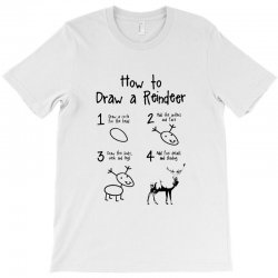 how to draw a reindeer T-Shirt | Artistshot