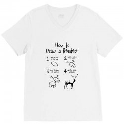 how to draw a reindeer V-Neck Tee | Artistshot