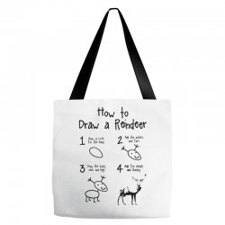 how to draw a reindeer Tote Bags | Artistshot