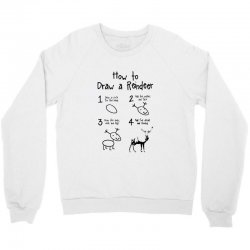 how to draw a reindeer Crewneck Sweatshirt | Artistshot