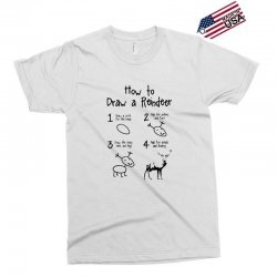 how to draw a reindeer Exclusive T-shirt   Artistshot