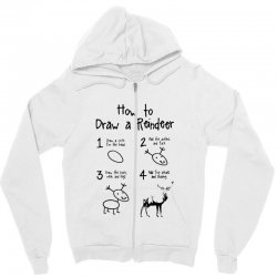 how to draw a reindeer Zipper Hoodie | Artistshot
