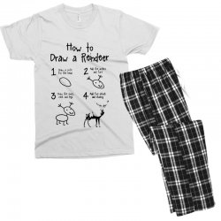 how to draw a reindeer Men's T-shirt Pajama Set | Artistshot