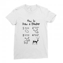 how to draw a reindeer Ladies Fitted T-Shirt | Artistshot