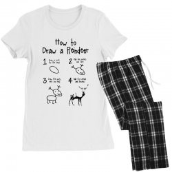 how to draw a reindeer Women's Pajamas Set | Artistshot