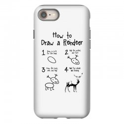 how to draw a reindeer iPhone 8 Case | Artistshot