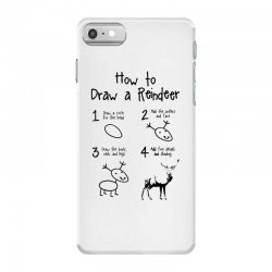 how to draw a reindeer iPhone 7 Case | Artistshot