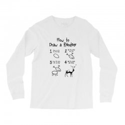 how to draw a reindeer Long Sleeve Shirts | Artistshot