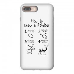 how to draw a reindeer iPhone 8 Plus Case | Artistshot