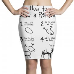 how to draw a reindeer Pencil Skirts | Artistshot