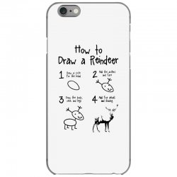 how to draw a reindeer iPhone 6/6s Case | Artistshot