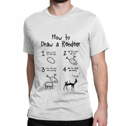 how to draw a reindeer Classic T-shirt | Artistshot