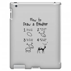how to draw a reindeer iPad 3 and 4 Case | Artistshot