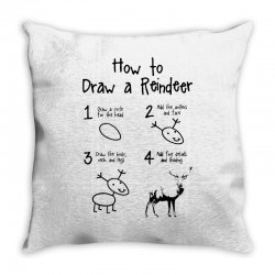 how to draw a reindeer Throw Pillow | Artistshot