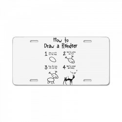 how to draw a reindeer License Plate   Artistshot