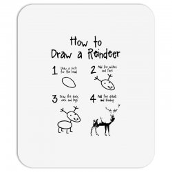 how to draw a reindeer Mousepad   Artistshot