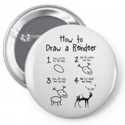 how to draw a reindeer Pin-back button | Artistshot
