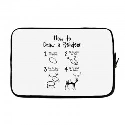 how to draw a reindeer Laptop sleeve | Artistshot