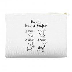 how to draw a reindeer Accessory Pouches | Artistshot
