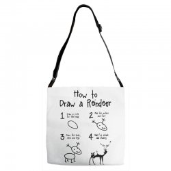 how to draw a reindeer Adjustable Strap Totes | Artistshot