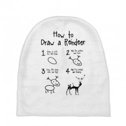 how to draw a reindeer Baby Beanies   Artistshot