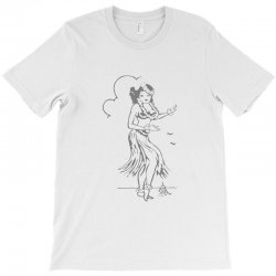 hula girl t shirt hula girl shirt tiki bar t shirt tiki graphic tee T-Shirt | Artistshot
