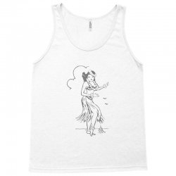 hula girl t shirt hula girl shirt tiki bar t shirt tiki graphic tee Tank Top | Artistshot