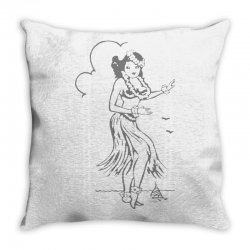 hula girl t shirt hula girl shirt tiki bar t shirt tiki graphic tee Throw Pillow | Artistshot