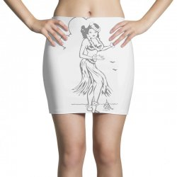 hula girl t shirt hula girl shirt tiki bar t shirt tiki graphic tee Mini Skirts | Artistshot