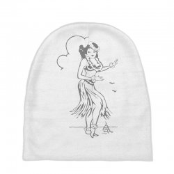 hula girl t shirt hula girl shirt tiki bar t shirt tiki graphic tee Baby Beanies | Artistshot