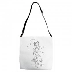 hula girl t shirt hula girl shirt tiki bar t shirt tiki graphic tee Adjustable Strap Totes | Artistshot
