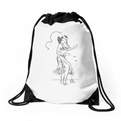 hula girl t shirt hula girl shirt tiki bar t shirt tiki graphic tee Drawstring Bags | Artistshot