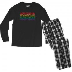 human rights and world truths Men's Long Sleeve Pajama Set | Artistshot
