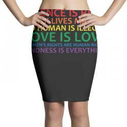 human rights and world truths Pencil Skirts | Artistshot