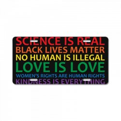 human rights and world truths License Plate | Artistshot