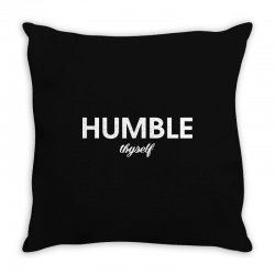 humble thyself Throw Pillow | Artistshot