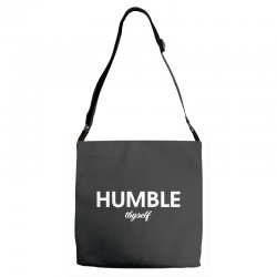 humble thyself Adjustable Strap Totes | Artistshot